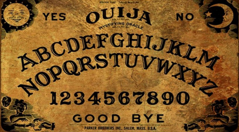 Be careful when using a ouija board.